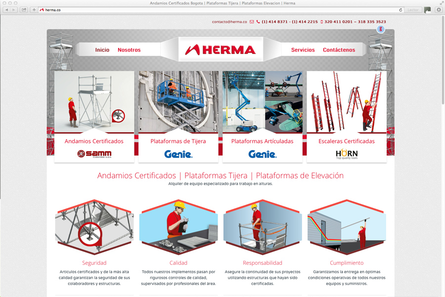 empresa colombiana prestadora de servicios de alquiler y venta de andamios certificados y equipo para trabajo en alturas